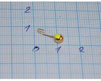 Мормышка 0,3 гр, d 3,0 мм Шар с люминофором, золото