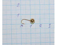 Мормышка 0,7 гр, d 4,0 мм Шар с люминофором, золото