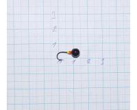 Мормышка 1,1 гр, d 6,0 мм Шар, литая с бисером, черный