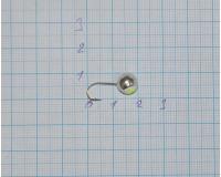 Мормышка 2,6 гр, d 8,0 мм Шар с люминофором, серебро