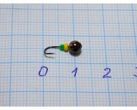 Мормышка 0,15 гр, d 2,0 мм Шар, черный никель