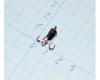 Мормышка свинцовая Ведьма с 3 крючками d 5,0 мм, вес 0,9 гр