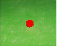 Квадрат красный 2х2 мм с отверстием