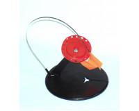 Жерлица зимняя круглая с угловой стойкой 195 мм, кат.-90 мм красная